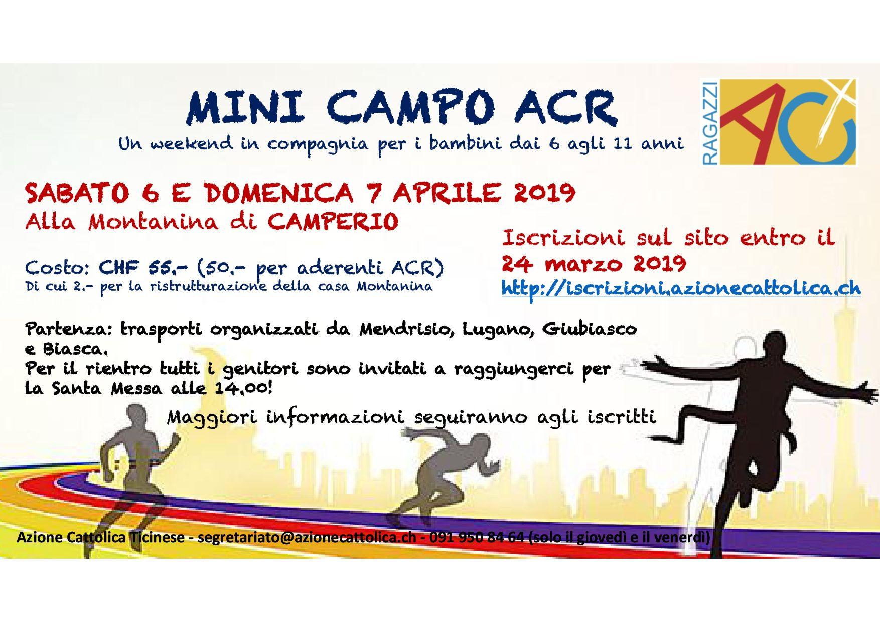 Volantino Minicampo ACR